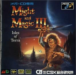 Box cover for Might and Magic III: Isles of Terra on the Sega CD.