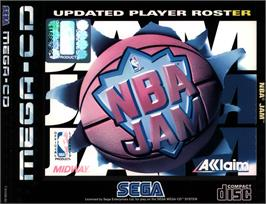 Box cover for NBA Jam on the Sega CD.