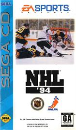 Box cover for NHL '94 on the Sega CD.