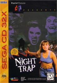 Box cover for Night Trap on the Sega CD.