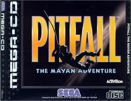 Box cover for Pitfall: The Mayan Adventure on the Sega CD.