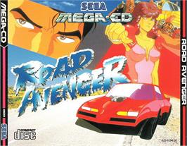 Box cover for Road Avenger on the Sega CD.