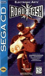 Box cover for Road Rash on the Sega CD.
