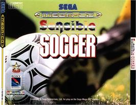 Box cover for Sensible Soccer: European Champions: 92/93 Edition on the Sega CD.