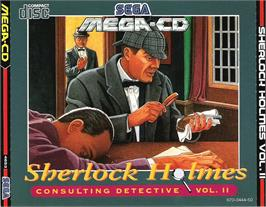 Box cover for Sherlock Holmes Consulting Detective: Volume 2 on the Sega CD.