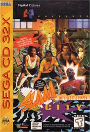 Box cover for Slam City with Scottie Pippen on the Sega CD.