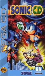 Box cover for Sonic CD on the Sega CD.