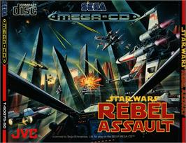 Box cover for Star Wars: Rebel Assault on the Sega CD.
