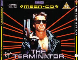 Box cover for Terminator on the Sega CD.
