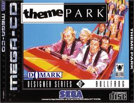 Box cover for Theme Park on the Sega CD.