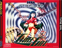 Box cover for Time Gal on the Sega CD.