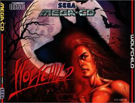 Box cover for Wolfchild on the Sega CD.
