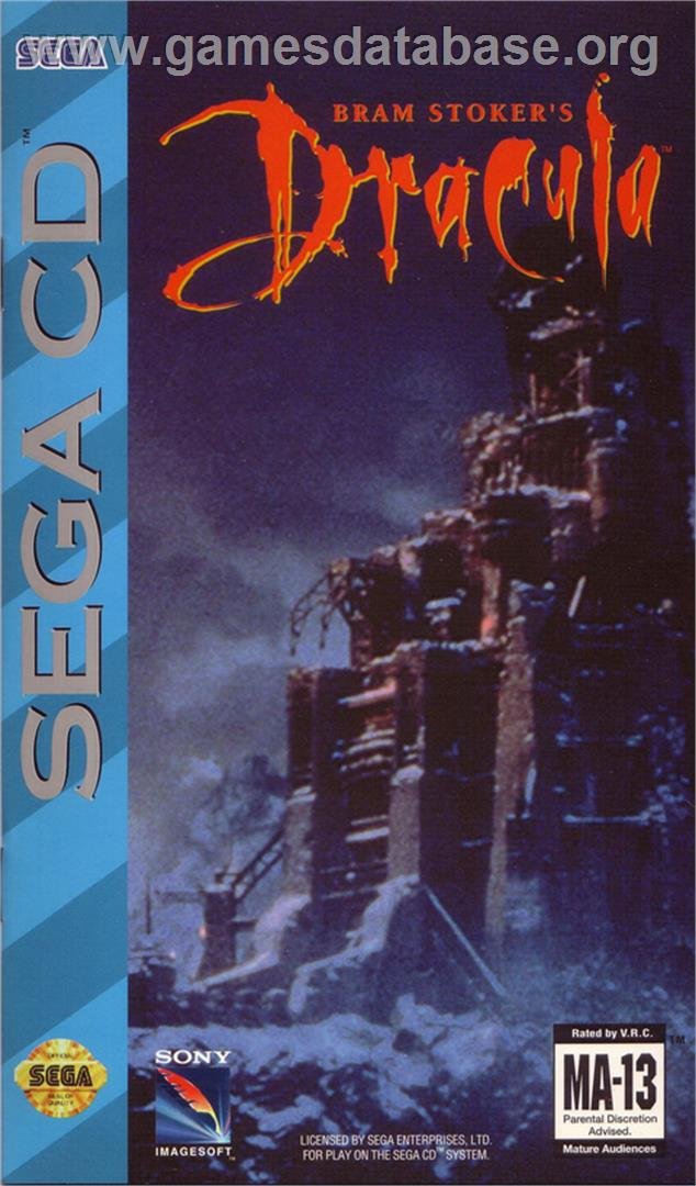 Box cover for Bram Stoker's Dracula on the Sega CD.