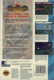 Box back cover for AH-3 Thunderstrike on the Sega CD.