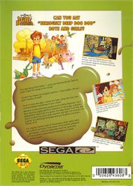 Box back cover for Adventures of Willy Beamish on the Sega CD.