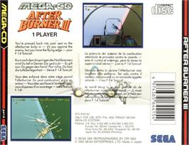 Box back cover for After Burner III on the Sega CD.