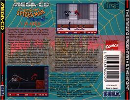 Box back cover for Amazing Spider-Man vs. The Kingpin on the Sega CD.