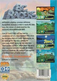 Box back cover for BC Racers on the Sega CD.