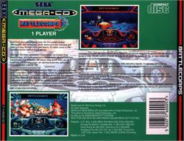 Box back cover for Battlecorps on the Sega CD.