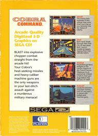 Box back cover for Cobra Command on the Sega CD.