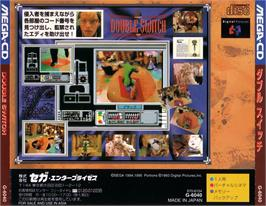 Box back cover for Double Switch on the Sega CD.