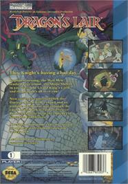 Box back cover for Dragon's Lair on the Sega CD.