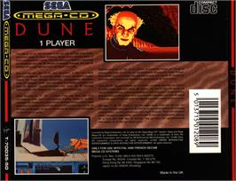 Box back cover for Dune on the Sega CD.