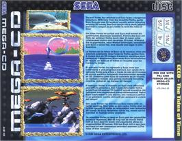 Box back cover for Ecco 2: The Tides of Time on the Sega CD.