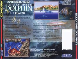 Box back cover for Ecco the Dolphin on the Sega CD.