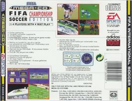 Box back cover for FIFA International Soccer on the Sega CD.