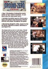 Box back cover for Ground Zero Texas on the Sega CD.