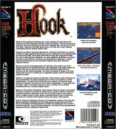Box back cover for Hook on the Sega CD.