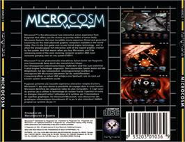 Box back cover for Microcosm on the Sega CD.