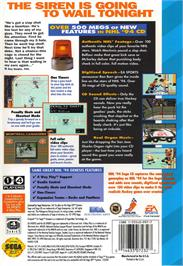 Box back cover for NHL '94 on the Sega CD.
