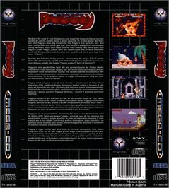 Box back cover for Puggsy on the Sega CD.