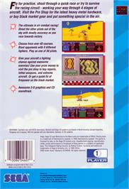 Box back cover for Racing Aces on the Sega CD.
