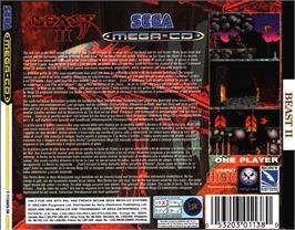 Box back cover for Shadow of the Beast 2 on the Sega CD.