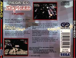 Box back cover for Silpheed on the Sega CD.