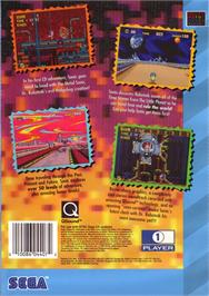 Box back cover for Sonic CD on the Sega CD.