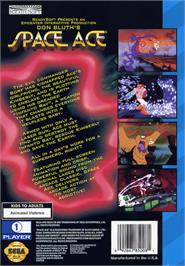 Box back cover for Space Ace on the Sega CD.