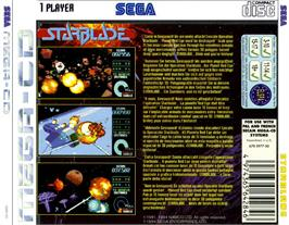 Box back cover for Starblade on the Sega CD.