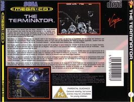 Box back cover for Terminator on the Sega CD.