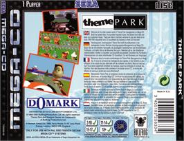 Box back cover for Theme Park on the Sega CD.