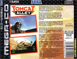 Box back cover for Tomcat Alley on the Sega CD.