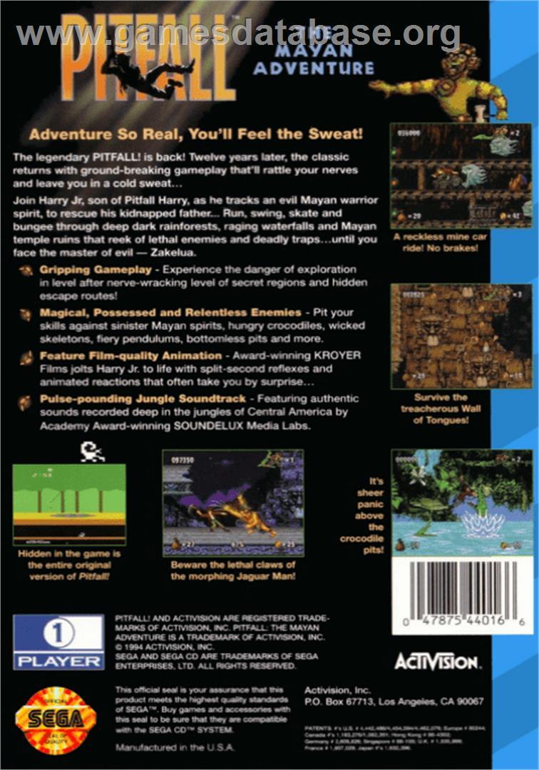 Pitfall The Mayan Adventure Sega Cd Games Database