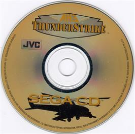 Artwork on the CD for AH-3 Thunderstrike on the Sega CD.