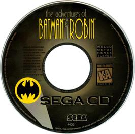 Artwork on the CD for Adventures of Batman & Robin on the Sega CD.