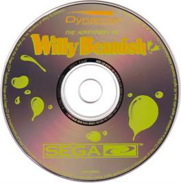 Artwork on the CD for Adventures of Willy Beamish on the Sega CD.