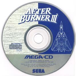 Artwork on the CD for After Burner III on the Sega CD.