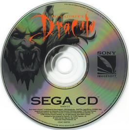 Artwork on the CD for Bram Stoker's Dracula on the Sega CD.